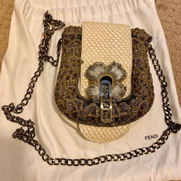 Fendi Handbags - Authentic ultra rare fendi b mini clutch/crossbody